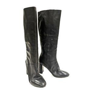 Cole Haan Glenda US 10.5 Black Leather Knee High